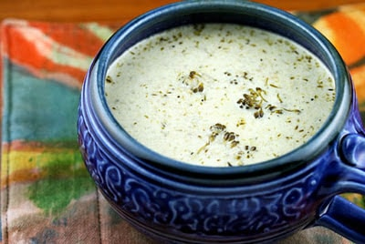 Slow Cooker (CrockPot) Cream of Broccoli and Cheese Soup Recipe from Soup Chick featured on SlowCookerFromScratch.com