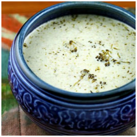 Slow Cooker Cream of Broccoli and Cheese Soup from Soup Chick