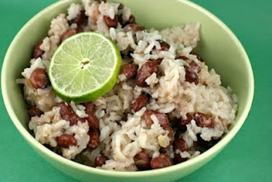 Slow Cooker Coconut Red Beans and Rice from A Year of Slow Cooking featured on Slow Cooker or Pressure Cooker at SlowCookerFromScratch.com