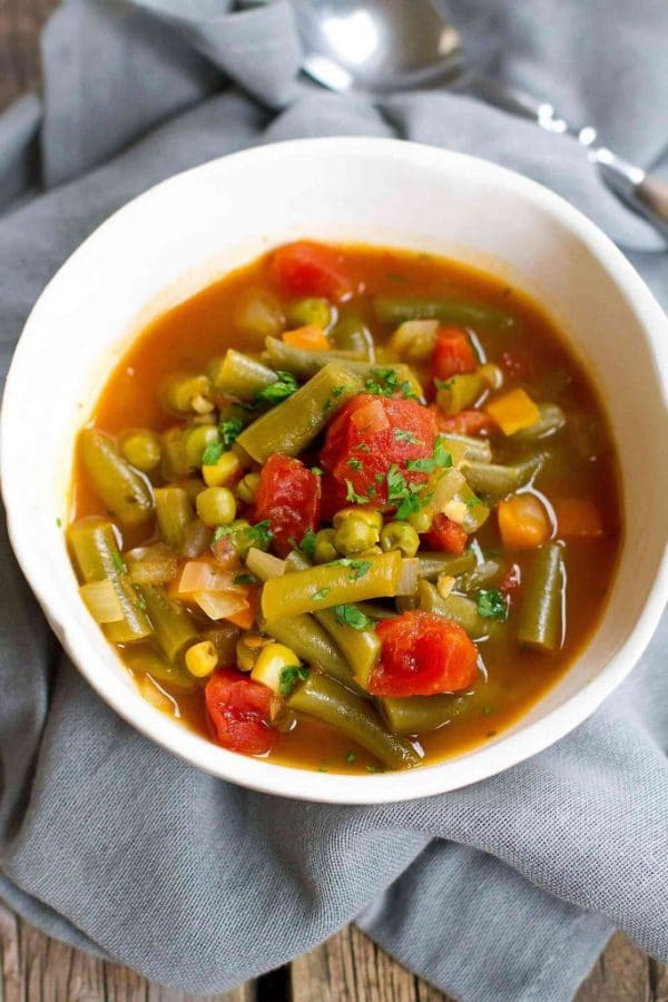 Instant Pot Vegetable Soup from Cookin' Canuck
