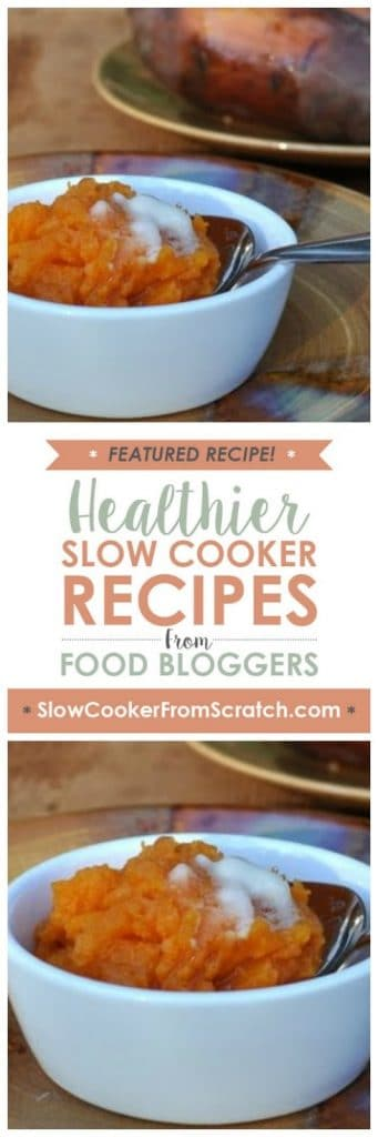 How to Cook Sweet Potatoes in the Slow Cooker (CrockPot) from A Veggie Venture, found on SlowCookerFromScratch.com