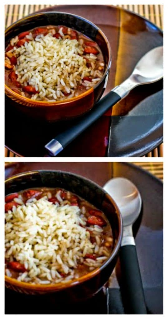 Slow Cooker Louisiana-Style Red Beans and Rice Recipe from Kalyn's Kitchen featured on SlowCookerFromScratch.com