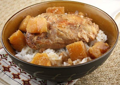 Slow Cooker Pineapple Chicken from Recipe Girl featured on SlowCookerFromScratch.com