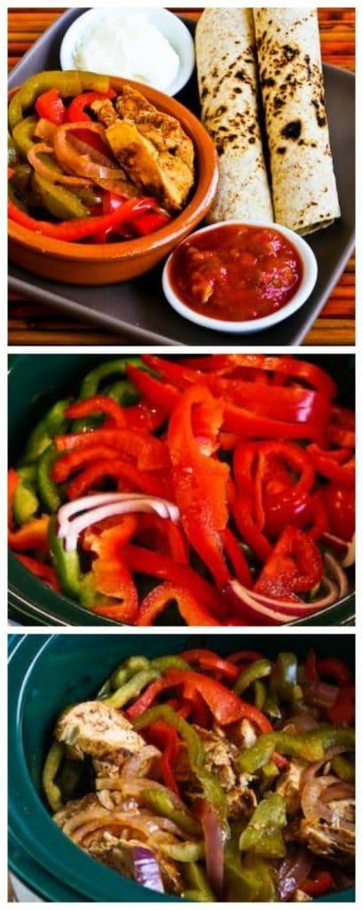 Slow Cooker Chicken Fajitas Recipe from Kalyn's Kitchen found on SlowCookerFromScratch.com