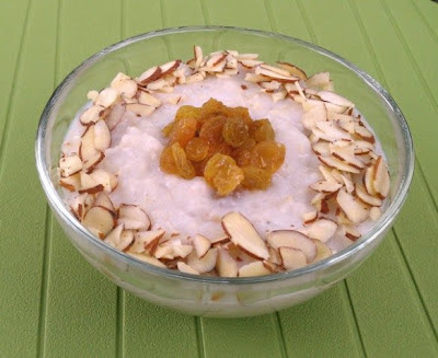 Slow Cooker Vegan Kheer (Indian Rice Pudding) from Healthy Slow Cooking featured on SlowCookerFromScratch.com