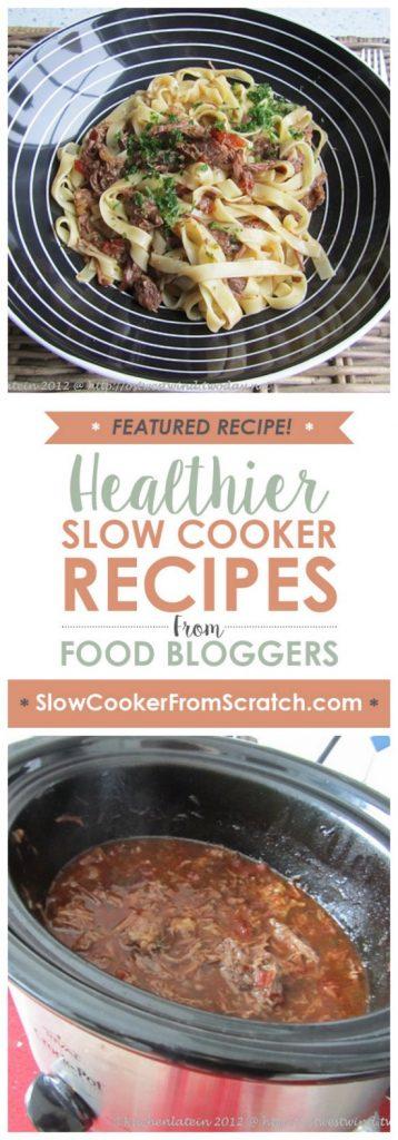 Slow Cooker Beef Cheeks Ragu Recipe from Kuchenlatein [found on SlowCookerFromScratch.com]