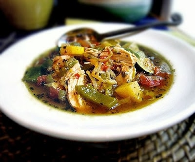 Slow Cooker Gluten-Free Chicken Soup for Body and Soul from Gluten Free Goddess found on SlowCookerFromScratch.com