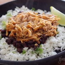 Slow Cooked Cafe Rio Style Sweet Barbacoa Pork from Skinnytaste featured on Slow Cooker or Pressure Cooker at SlowCookerFromScratch.com
