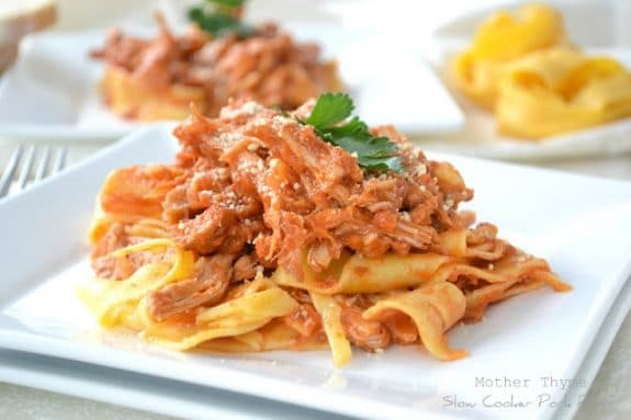 Three Tasty Recipes for Pork Ragu found on Slow Cooker or Pressure Cooker at SlowCookerFromScratch.com