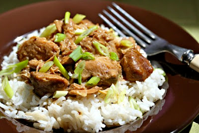 Slow Cooker Filipino Chicken Adobo Recipe from The Perfect Pantry found on SlowCookerFromScratch.com