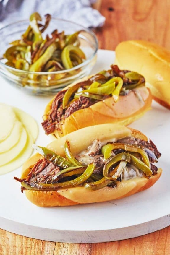 Three Easy Recipes for Italian Beef from Slow Cooker or Pressure Cooker at SlowCookerFromScratch.com