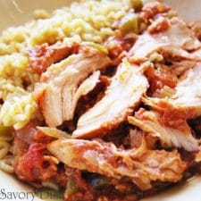 Slow Cooker Sweet and Spicy Chicken from Amee's Savory Dish featured on Slow Cooker or Pressure Cooker at SlowCookerFromScratch.com
