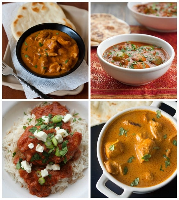 Four Flavorful Recipes for Butter Chicken featured on Slow Cooker or Pressure Cooker at SlowCookerFromScratch.com