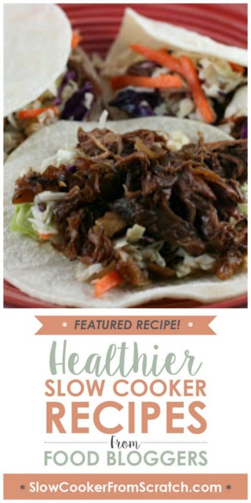 Slow Cooker Korean Shredded Beef Tacos from A Year of Slow Cooking featured on SlowCookerFromScratch.com