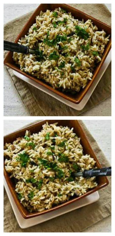 Slow Cooker Rice with Dried Mushrooms, Herbs, and Parmesan