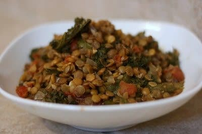 Three Amazing Recipes for Lentil Side Dishes featured on Slow Cooker or Pressure Cooker at SlowCookerFromScratch.com