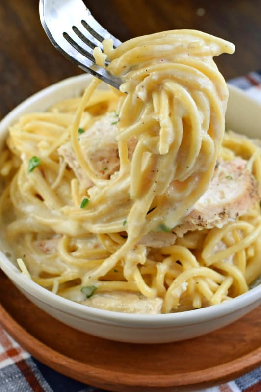 Four Fabulous Recipes for Chicken Alfredo found on Slow Cooker or Pressure Cooker