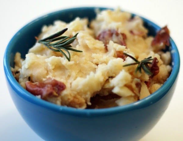Slow Cooker Rosemary Garlic Mashed Potatoes from Coconut and Lime featured on Slow Cooker or Pressure Cooker at SlowCookerFromScratch.com