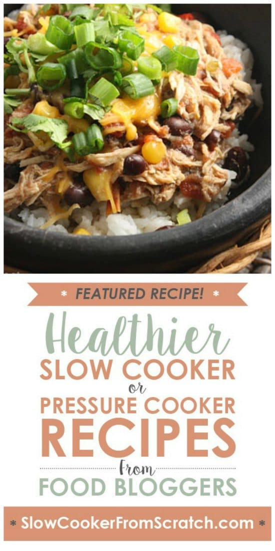 Slow Cooker Sante Fe Chicken from Skinnytaste featured on Slow Cooker or Pressure Cooker at SlowCookerFromScratch.com