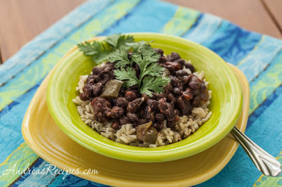 Slow Cooker Cuban-Style Black Beans and Rice from Andrea Myers featured on SlowCookerFromScratch.com