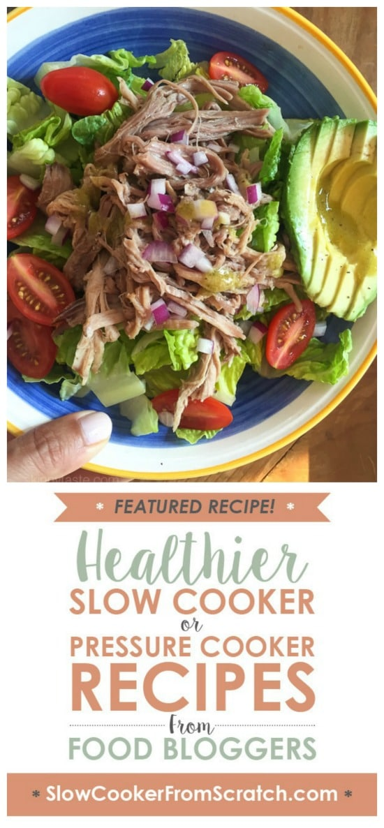 Crock Pot Kalua Pork Lettuce Wraps from Skinnytaste featured on Slow Cooker or Pressure Cooker at SlowCookerFromScratch.com
