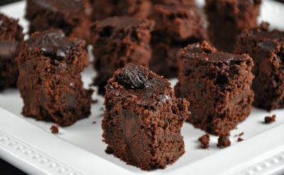 Slow Cooker Triple Chocolate Brownies from All Four Burners via SlowCookerFromScratch.com