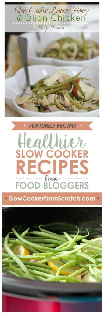Slow Cooker Lemon Honey and Dijon Chicken Dinner [from Picky Palate via SlowCookerFromScratch.com]