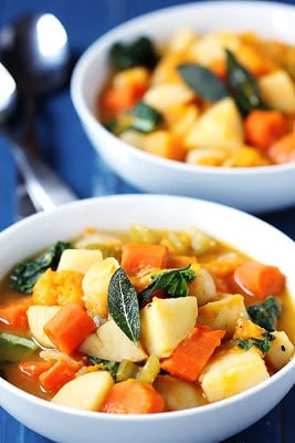 Slow Cooker Root Vegetable Stew Recipe from Gimme Some Oven found on SlowCookerFromScratch.com