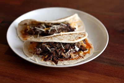 Slow Cooker Shredded Beef for Tacos, Burritos, Nachos, or Tostadas from Elly Says Opa via SlowCookerFromScratch.com