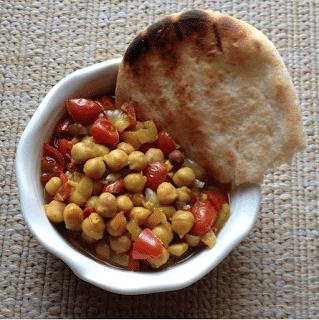 Slow Cooker Chole (Indian-Spiced Chickpea Stew) from Letter Blocks Say What featured on SlowCookerFromScratch.com