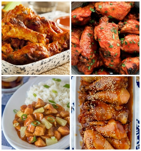 Four Barbecue Chicken Recipes That Are Finger Licking Good! (Slow Cooker or Pressure Cooker) featured on Slow Cooker or Pressure Cooker at SlowCookerFromScratch.com