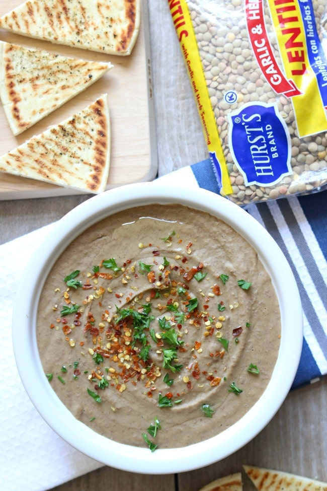 Slow Cooker Lentil Hummus from 365 Days of Slow + Pressure Cooking