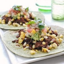 Slow Cooker Spicy Barbacoa Soft Tacos from Bev Cooks featured on Slow Cooker or Pressure Cooker at SlowCookerFromScratch.com