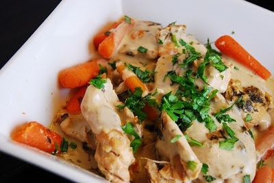 Slow Cooker (Crock Pot) Creamy Tarragon Chicken from LaaLoosh found on SlowCookerFromScratch.com