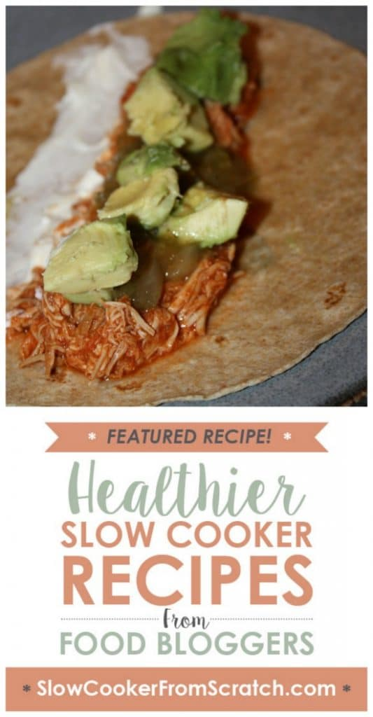 Slow Cooker Chipotle Chicken Tacos from Kiss My Whisk featured on SlowCookerFromScratch.com