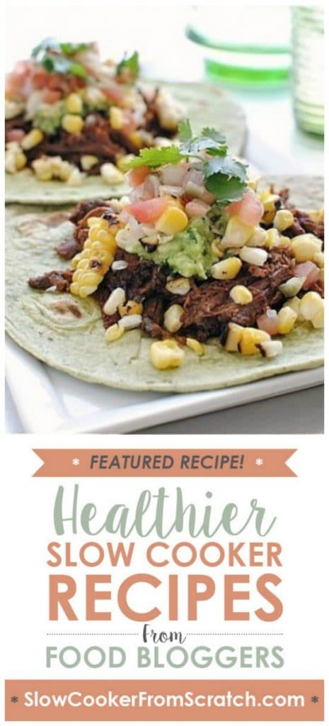 Slow Cooker Spicy Barbacoa Soft Tacos from Bev Cooks featured on SlowCookerFromScratch.com