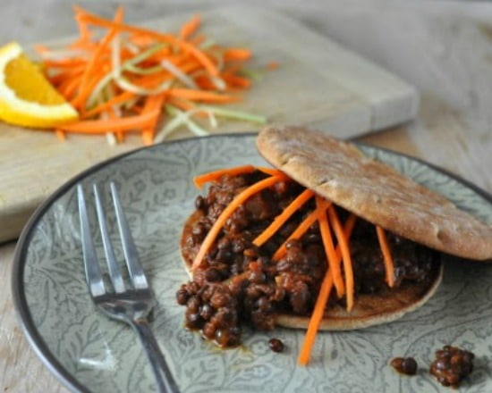Slow Cooker Vegan Lentil Sloppy Joes from A Veggie Venture found on Slow Cooker or Pressure Cooker at SlowCookerFromScratch.com