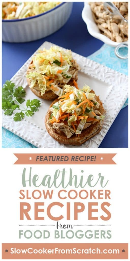 Slow Cooker Hoisin Shredded Chicken and Asian Slaw Sandwiches from Cookin' Canuck found on SlowCookerFromScratch.com