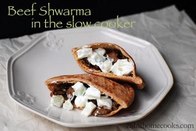 Beef Schwarma in the slow cooker.