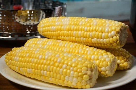 Three Easy Recipes for Corn on the Cob featured on Slow Cooker or Pressure Cooker at SlowCookerFromScratch.com