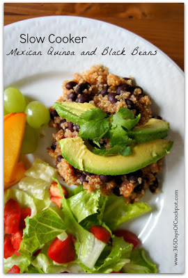Slow Cooker Mexican Quinoa and Black Beans [from 365 Days of Slow Cooking featured on SlowCookerFromScratch.com