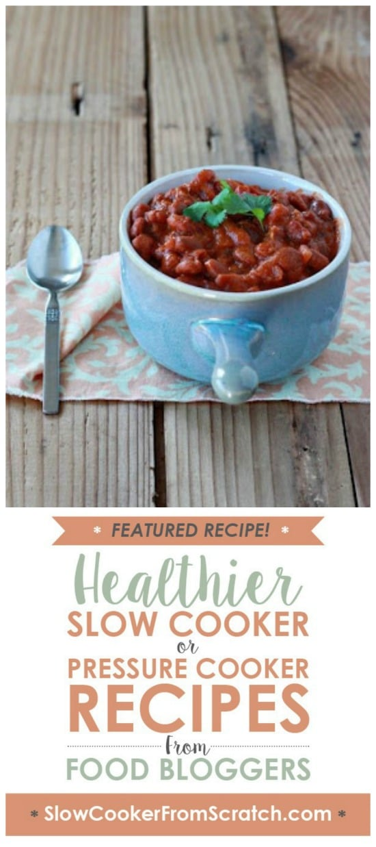 Crock Pot Vegetarian Coconut Curry Baked Beans from Kitchen Treaty featured on Slow Cooker or Pressure Cooker at SlowCookerFromScratch.com