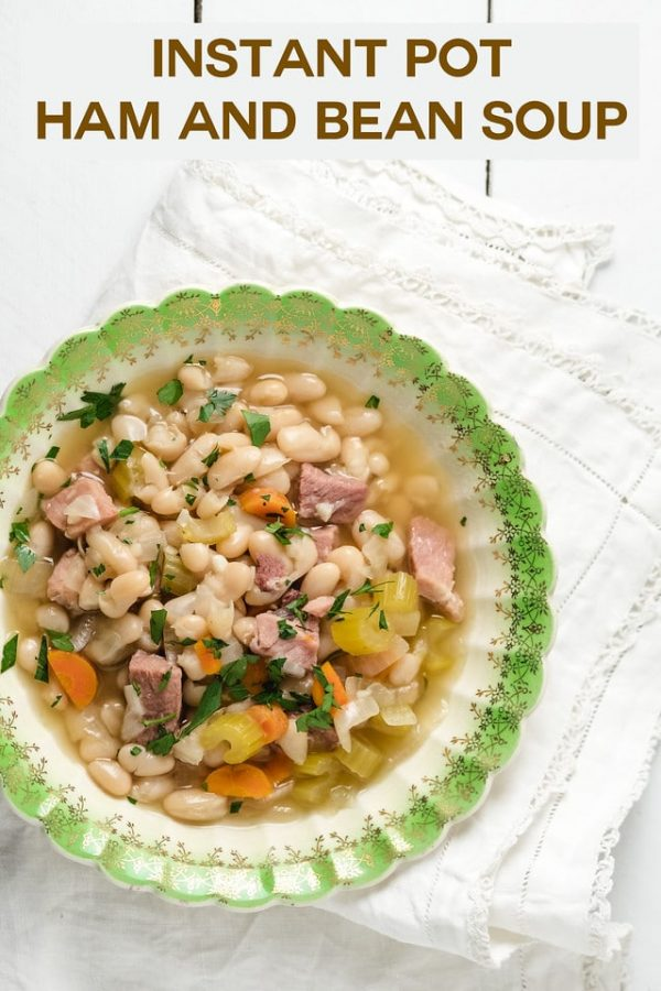 Instant Pot Ham and Bean Soup from Sidewalk Shoes