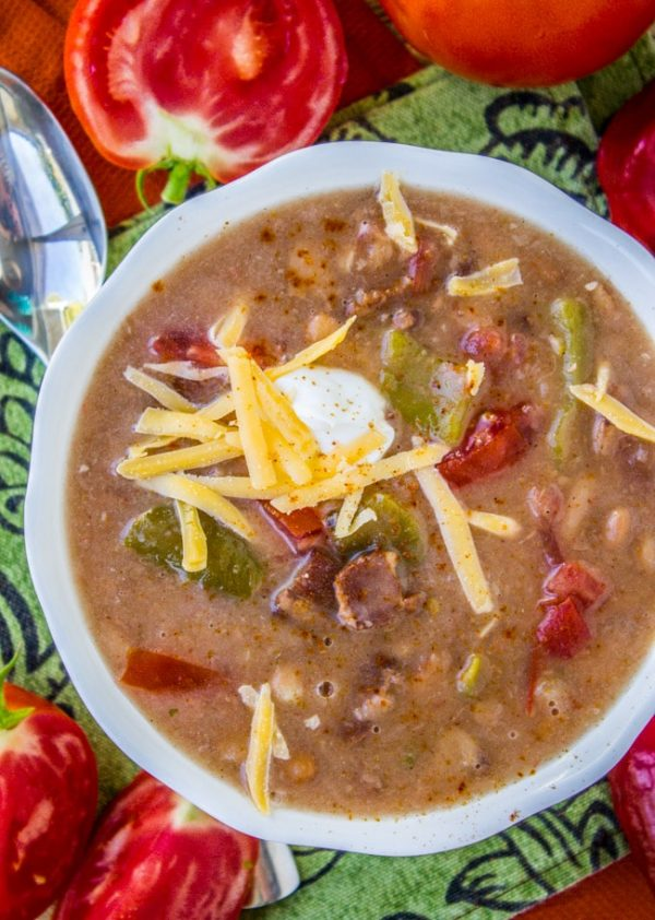 Slow Cooker Cowboy Pinto Bean Soup from The Food Charlatan