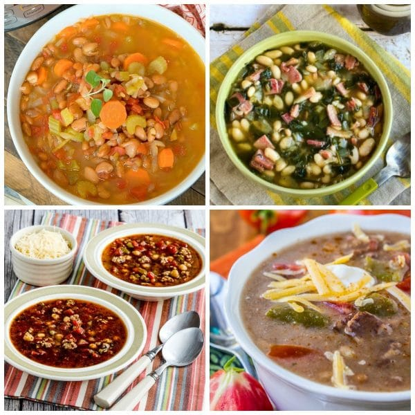 Slow Cooker and Instant Pot Bean Soup Recipes top photo collage
