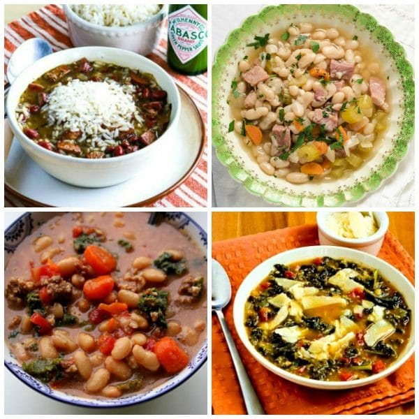 Slow Cooker and Instant Pot Bean Soup Recipes second photo collage