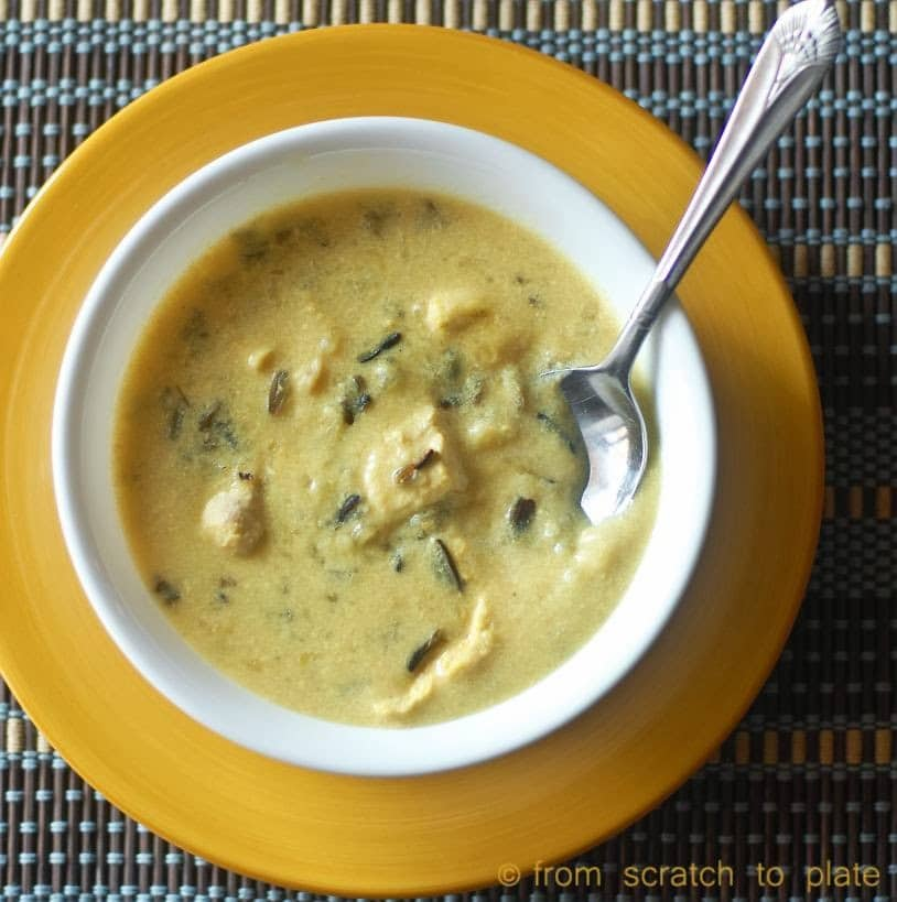 Slow Cooker Creamy Chicken and Wild Rice Soup Recipe