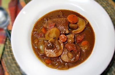 Slow Cooker Beef and Potatoes au Chocolat