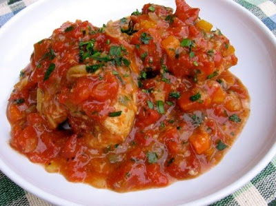 Slow Cooker Chicken Thighs Osso Buco from Simple Nourished Living featured on SlowCookerFromScratch.com