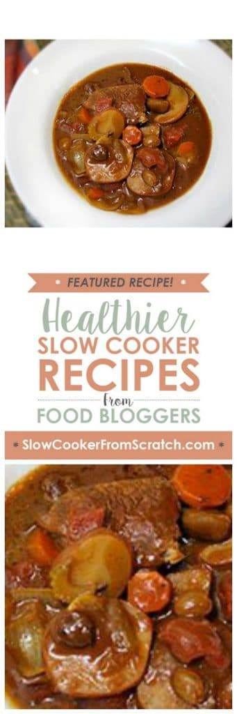 Slow Cooker Beef and Potatoes au Chocolat Recipe from Gluten Free Goddess featured on SlowCookerFromScratch.com